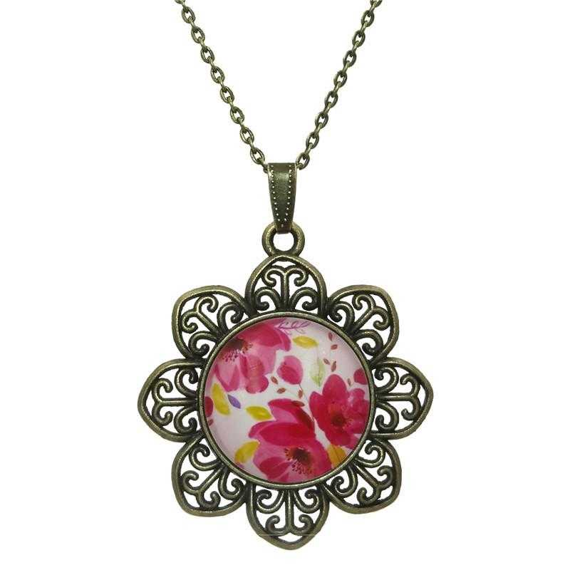 Free Rose Flower Necklace-Necklace-Kirijewels.com-Red-Kirijewels.com