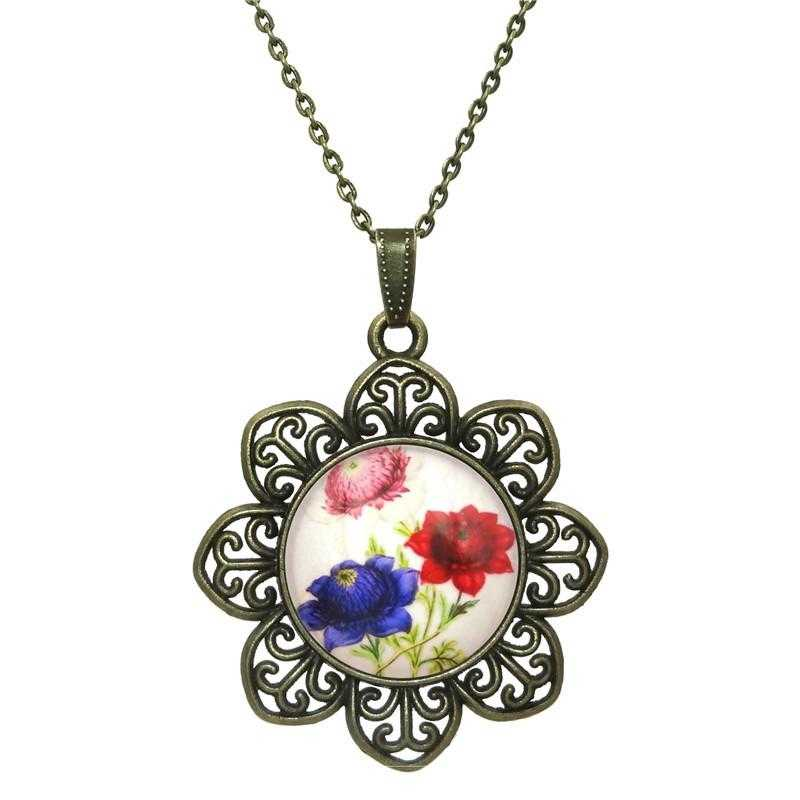 Free Rose Flower Necklace-Necklace-Kirijewels.com-White-Kirijewels.com