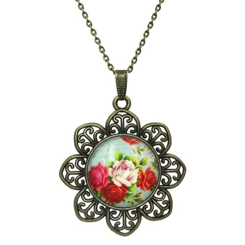 Free Rose Flower Necklace-Necklace-Kirijewels.com-Yellow-Kirijewels.com