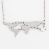 World's Map Necklace-Necklace-Kirijewels.com-Silver-Kirijewels.com
