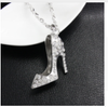 Free High Heel Shoe Pendant Necklace-Necklace-Kirijewels.com-White Necklace-Kirijewels.com