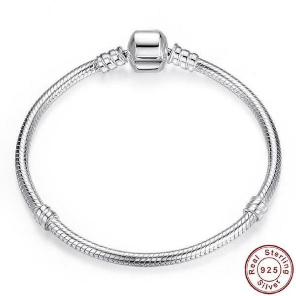 Authentic 100% 925 Sterling Silver Snake Chain Bracelet
