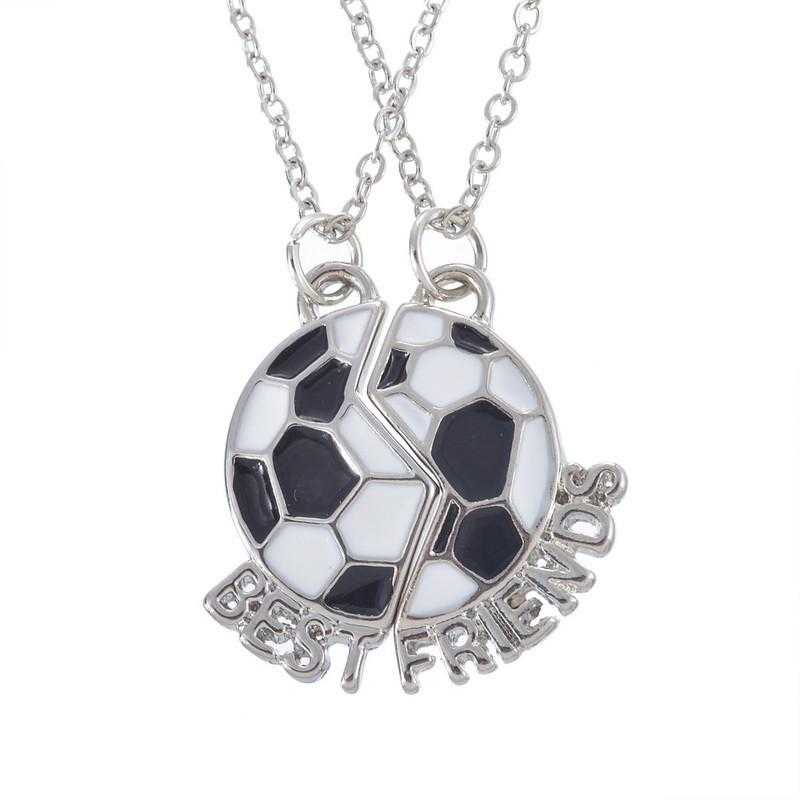 Soccer Necklace-Necklace-Kirijewels.com-Double White& Black-Kirijewels.com