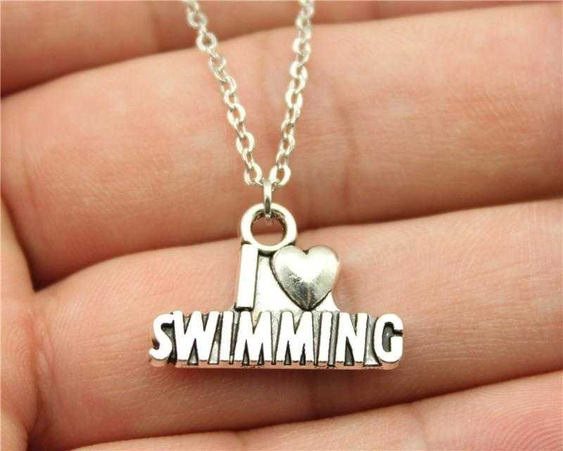Free Swimming Necklace-Necklace-Kirijewels.com-Silver Plated-Kirijewels.com
