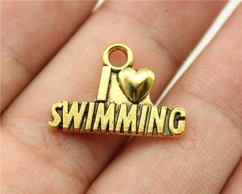 Free Swimming Necklace-Necklace-Kirijewels.com-Gold Plated-Kirijewels.com