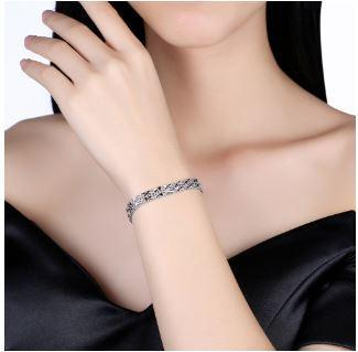 Classic 925 Sterling Silver Link Chain Bracelet-Bracelets & Bangles-Kirijewels.com-silver-Kirijewels.com