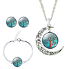 Romantic Moon Tree Jewelry Set-Jewelry Set-Kirijewels.com-blue-Kirijewels.com