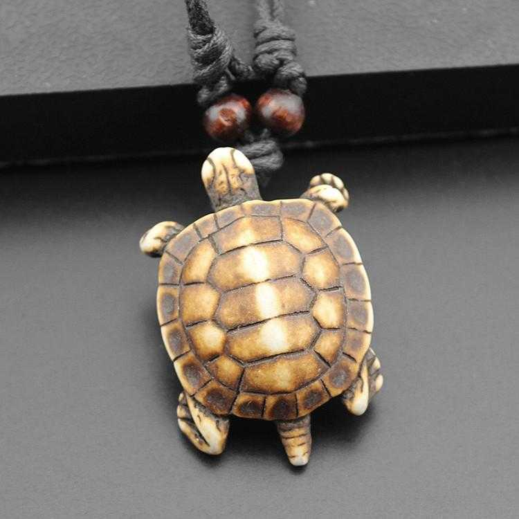 Free Turtle Necklace-Necklace-Kirijewels.com-Simulated Bone-Kirijewels.com