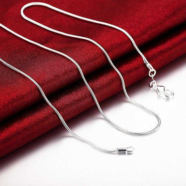 Free Sterling Silver Thin Water Wave Chain Necklace-Necklace-Kirijewels.com-18 Inch-Kirijewels.com