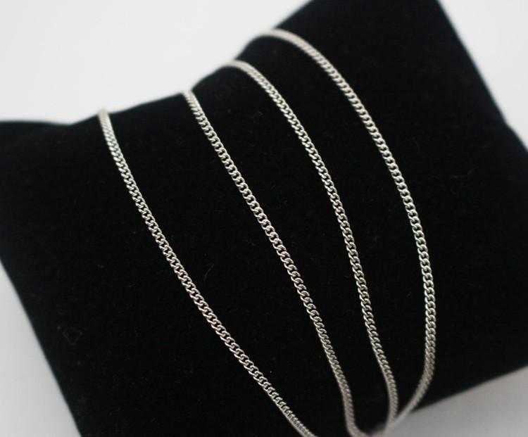 Sterling Silver Thin Water Wave Chain Necklace/2-Necklace-Kirijewels.com-16 Inch-Silver-Kirijewels.com