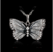 Crystal Braided Rope Butterfly pendant Necklace-Pendant Necklaces-Kirijewels.com-White-Kirijewels.com