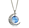 Free Moon Wolf Necklace-Necklace-Kirijewels.com-purple S2947-Kirijewels.com