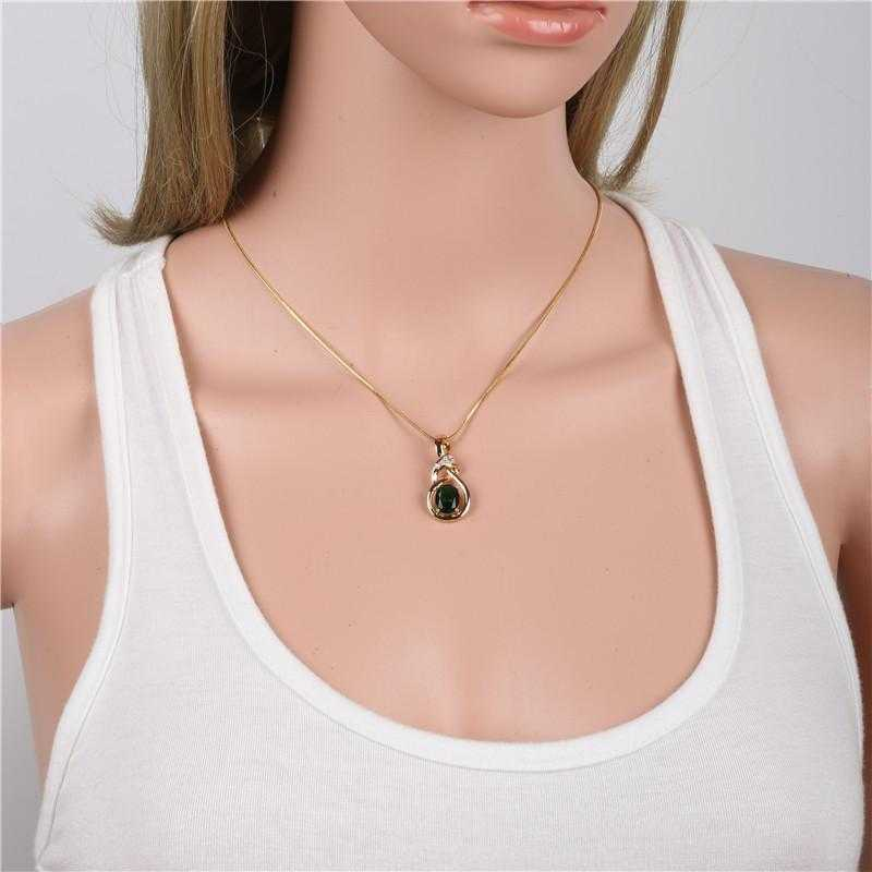 Free Luxury Crystal Necklace-Necklace-Kirijewels.com-white gold plated-Kirijewels.com