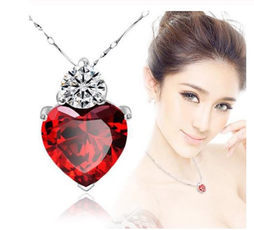 Zircon Heart Necklace