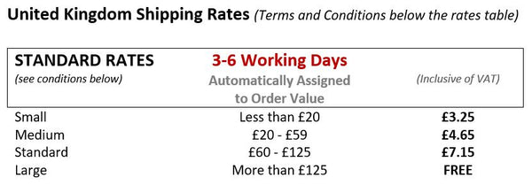 UK Standard Shipping Rates