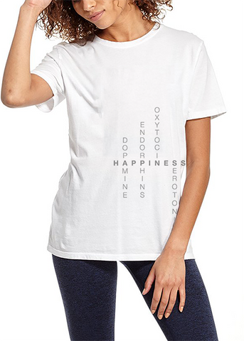 HAPPINESS (Grey Font) - LOOSETEE
