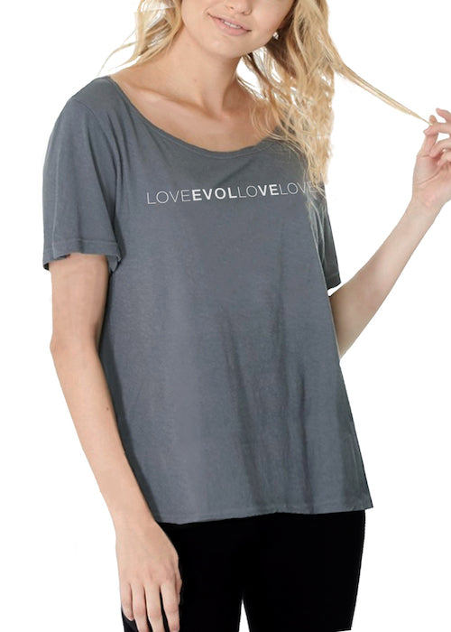 LOVE EVOLVE (Grey Font) - LOOSETEE