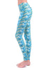 Mermaid Tile Yoga Legging