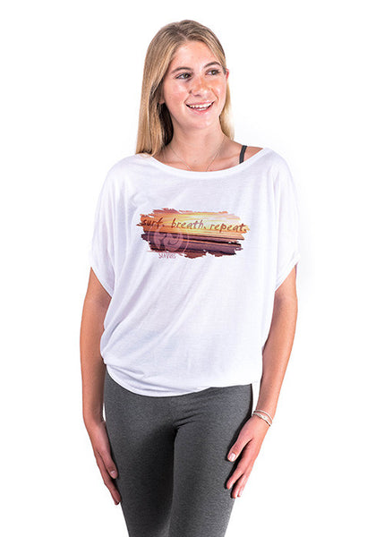 Surf Breath Repeat Tee (front)