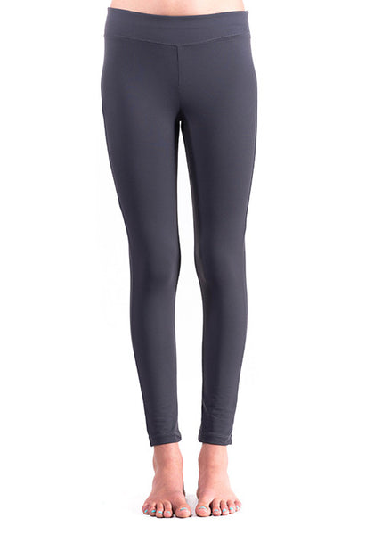 Active Yoga Solid Legging (front-charcoal)
