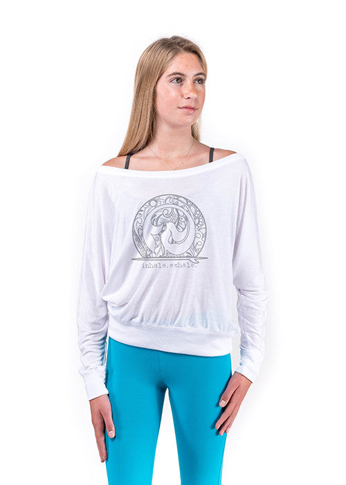 Henna Mermaid Long Sleeve Top (front-white)