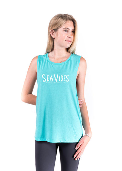 Classic SeaVibes Tank (front-teal)