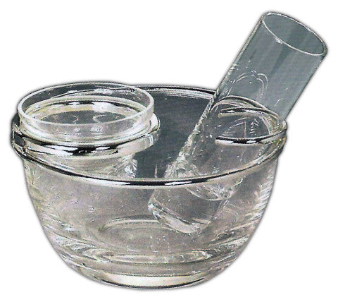 Crystal Caviar Server with Tall Shot Glass