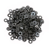 #8 Black Flat Washer