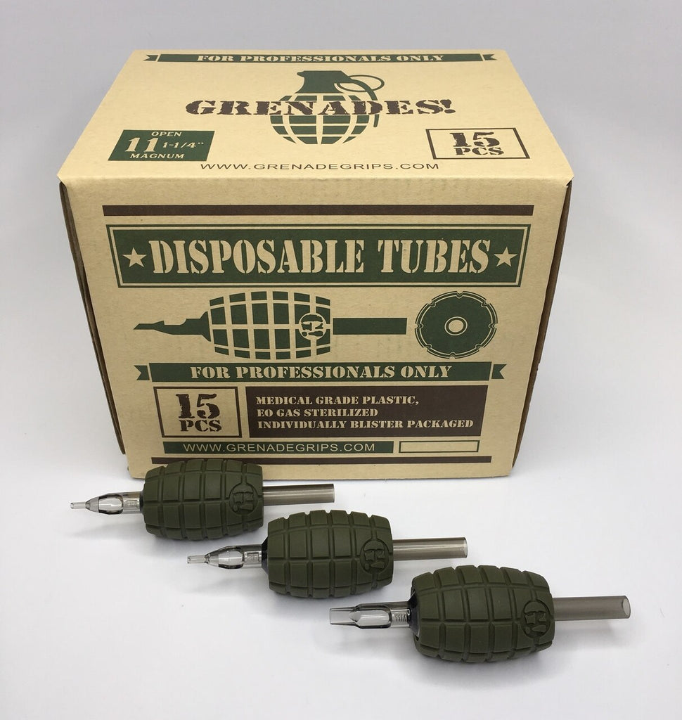 Grenade Grip Disposable Tubes Round Angle Liner