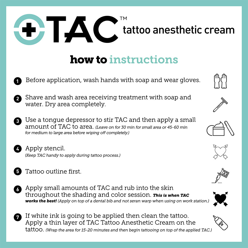TAC - Tattoo Anesthetic Cream 1 oz