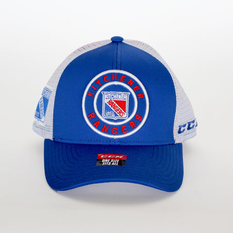Adult CCM Meshback Trucker Adjustable Hat - Rangers Authentics