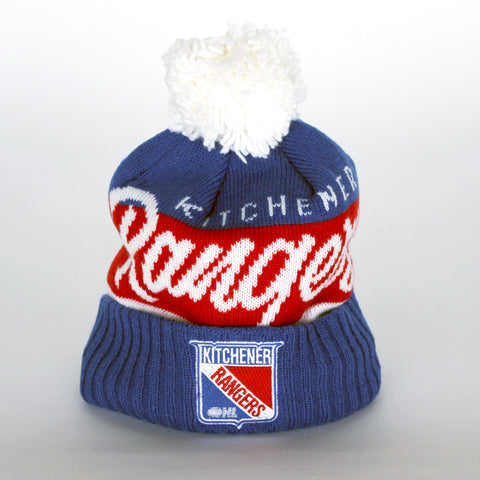 Adult CCM Vintage Cuffed Pom Knit - Rangers Authentics