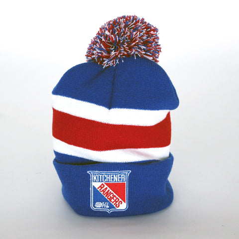 AN Yth Striped Knit Pom - Rangers Authentics