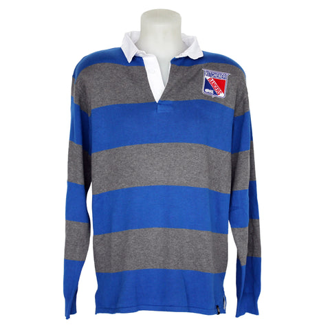 BRUZER Striped LS Polo - Rangers Authentics