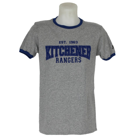 Men's Russell Athletic Ringer Tee - Rangers Authentics