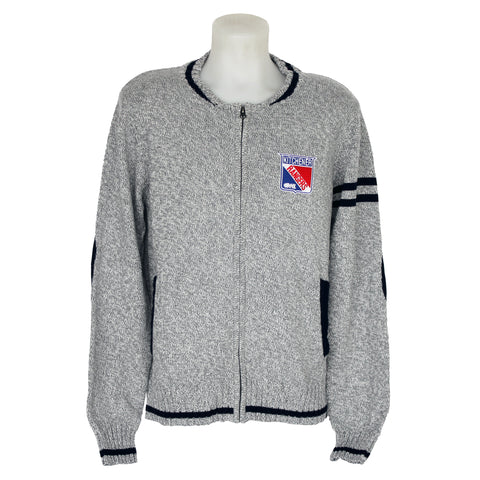 Men's Bruzer Letterman Full Zip Sweater - Rangers Authentics