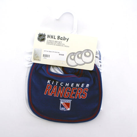 Infant 3-Pack Bib Set - Rangers Authentics