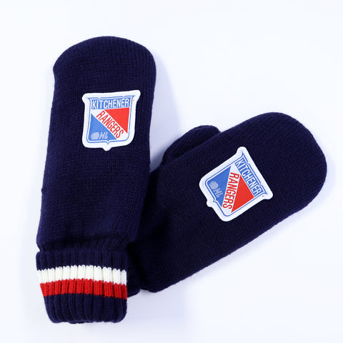 Adult West Hall Jacquard Knit Mitts - Rangers Authentics