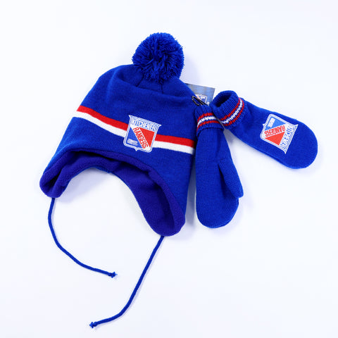 Toddler Helping Hand Hat and Mitten Set - Rangers Authentics