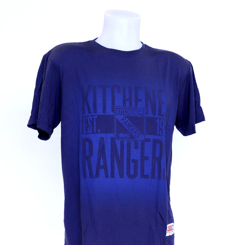 Men's CCM Faded Washed Out Tee - Rangers Authentics