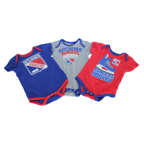 Infant Hat Trick Three Piece Creeper Set - Rangers Authentics