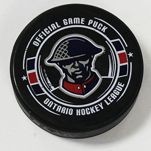 Kitchener Rangers Alternate Logo Puck - Rangers Authentics