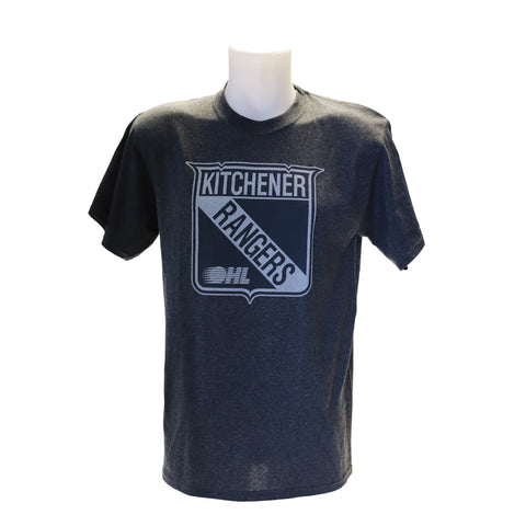 Men's '47 Blackout Tee - Rangers Authentics