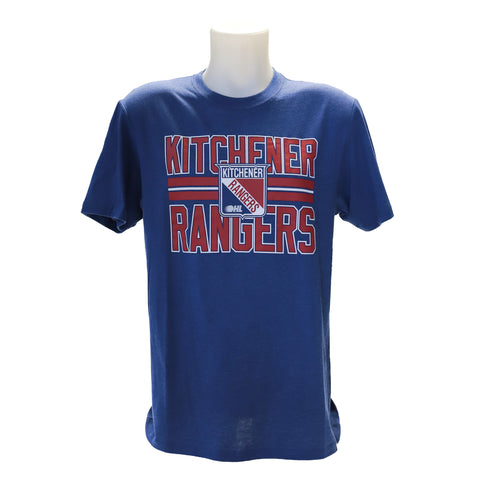 Men's '47 Block Stripe Club Tee - Rangers Authentics