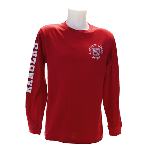 Men's Westhall Red Surfer Long Sleeve Tee - Rangers Authentics