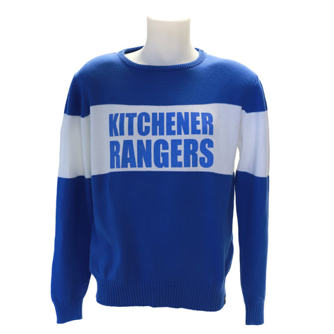 Bruzer Bar Down Sweater - Rangers Authentics