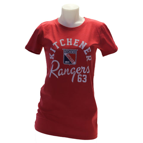 Women's Westhall Red Heather Tee - Rangers Authentics