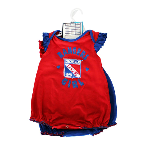 Infant Girls Onesies 2pack - Rangers Authentics