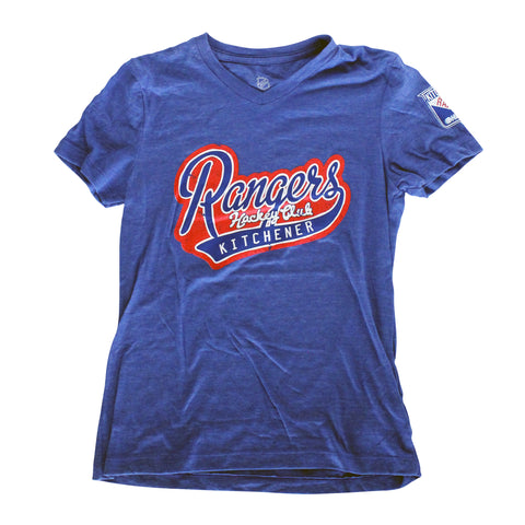 Fan-Fare Girls Tee - Rangers Authentics
