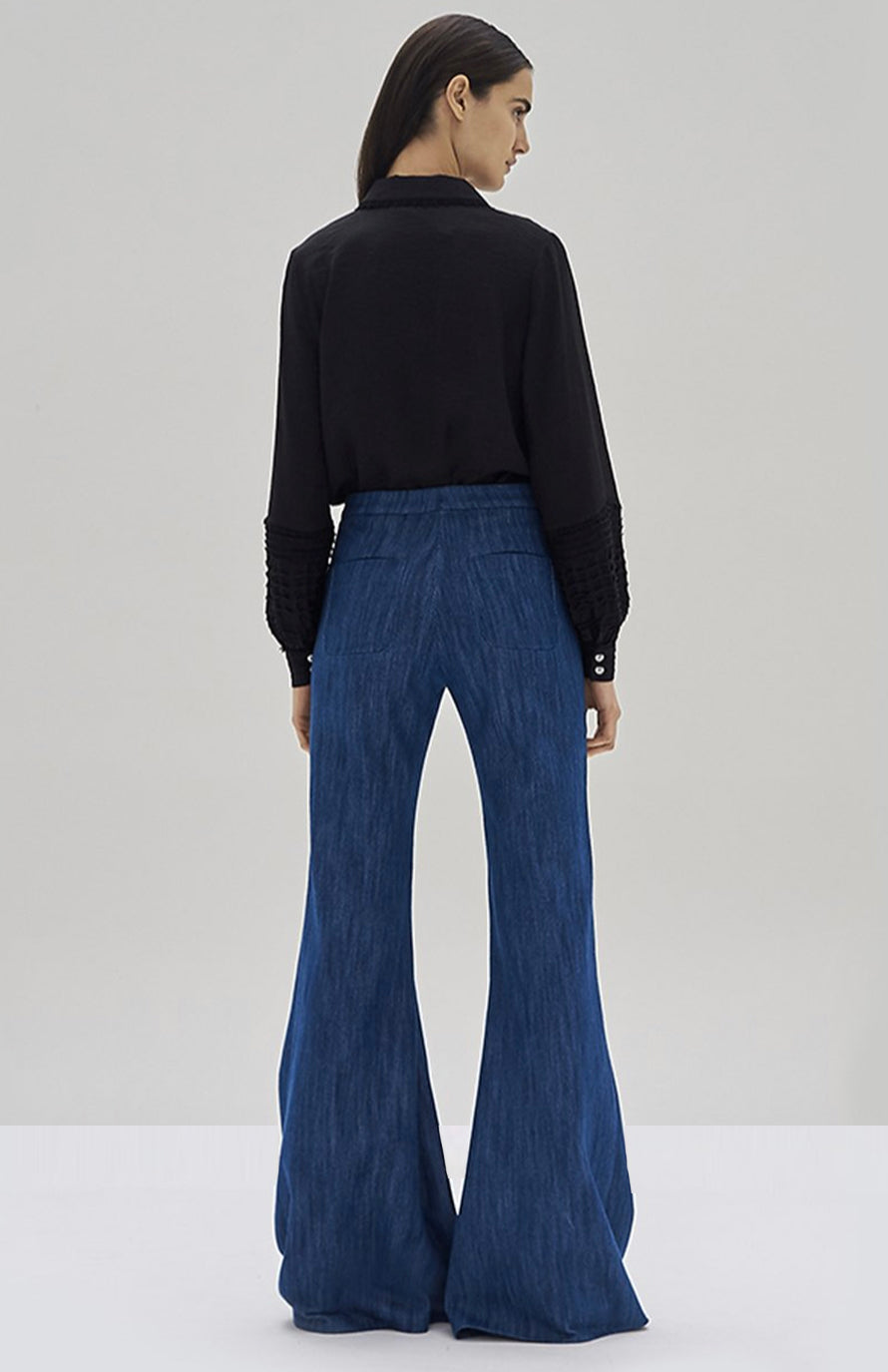 Alexis Greyson Top Black and Carlisle Pant - Rear View